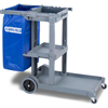 Janitorial Carts, Trucks, and Utility Carts: Carlisle - Short Platform Janitorial Cart - Gray