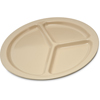 "Carlisle Kingline Melamine 3-Compartment Plate 10"" - Tan CFS KL10225CS"