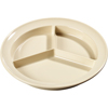 Carlisle Kingline Melamine 3-Compartment Deep Plate 8.75 - Tan CFS KL20325CS