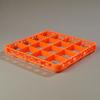 Carlisle Opticlean 16-Compartment Divided Extender - Orange CFS RE16C24CS