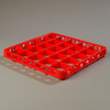 Carlisle Opticlean 25-Compartment Divided Extender - Red CFS RE25C05CS