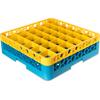 Carlisle Opticlean 36-Compartment with 1 Extender - Yellow-Carlisle Blue CFS RG36-1C411CS