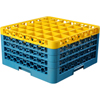 Carlisle Opticlean 36-Compartment with 4 Extenders - Yellow-Carlisle Blue CFS RG36-4C411CS