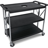 Janitorial Carts, Trucks, and Utility Carts: Carlisle - Fold 'N Go® Cart - Black