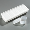 "Carlisle Caddy with 5 Ea 1-1/4 Pint Containers/Lids 19-3/4"", 7-1/4"", 4-1/4"" - White CFS SS10502CS"