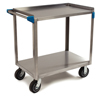 Janitorial Carts, Trucks, and Utility Carts: Carlisle - 2 Shelf Stainless Steel Utility Cart