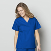 scrub tops: WonderWink - Unisex V-Neck Top