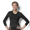 WonderWink Silky Long Sleeve Viscose Rayon Tee CID 2009A-BLK-MD