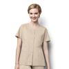 workwear jackets: WonderWink - Women's Short Sleeve Snap Jacket