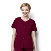 scrubs: WonderWink - Women's Short Sleeve Snap Jacket
