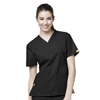 WonderWink Bravo - 5-Pocket V-Neck Top CID 6016A-BLK-XL
