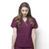 scrub tops: WonderWink - Charlie - 5-Pocket Y-Neck Wrap Top