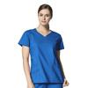 scrub tops: WonderWink - Charity Fashion Y-Neck Top