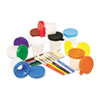 Creativity Street Creativity Street® No-Spill Paint Cups and Brushes Pack CKC 5104