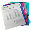 C-Line Products Biodegradable 5-Tab Poly Binder Index Dividers w/Slant Pockets, Assorted CLI 05460BNDL6PK