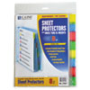 Ring Panel Link Filters Economy: C-Line® Sheet Protector with Index Tabs And Inserts