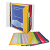 C-Line Products Binder Pocket w/Write-on Index Tabs, Assorted, 8 1/2 x 11 CLI 06650BNDL6ST