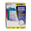 C-Line Products Vinyl Report Covers w/Binding Bars, Yellow, Matching Binding Bars, 11 x 8 1/2 CLI 32556