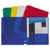 C-Line Products C-Line® Two-Pocket Heavyweight Poly Portfolio Folder with Three-Hole Punch CLI 32930