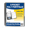 C-Line Products 8-Pocket Spiral-Bound Poly Portfolio, Smoke CLI 33081BNDL6EA