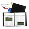 C-Line Products 12-Pocket Bound Sheet Protectors Presentation Book, Black CLI 33120BNDL6EA