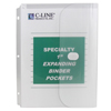 C-Line Products Biodegradable Binder Pocket, Clear CLI33747