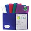 C-Line Products Biodegradable 2-Pocket Heavyweight Poly Portfolio w/Prongs CLI33810BNDL12EA