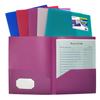 C-Line Products 2-Pocket Heavyweight Poly Portfolio Folder, Jewel Tone Colors CLI 33900BNDL18EA