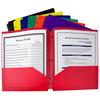 C-Line Products 2-Pocket Heavyweight Poly Portfolio Folder w/3-Hole Punch CLI 33930BNDL18EA