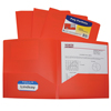 C-Line Products 2-Pocket Heavyweight Poly Portfolio Folder, Orange CLI33952BNDL18EA