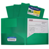 C-Line Products 2-Pocket Heavyweight Poly Portfolio Folder, Green CLI33953BNDL18EA