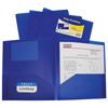 C-Line Products 2-Pocket Heavyweight Poly Portfolio Folder, Blue CLI33955BNDL18EA
