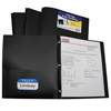C-Line Products 2-Pocket Heavyweight Poly Portfolio Folder w/Prongs, Black CLI33961BNDL12EA