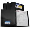 C-Line Products 2-Pocket Heavyweight Poly Portfolio Folder w/Prongs, Black CLI 33961BNDL12EA