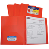 C-Line Products 2-Pocket Heavyweight Poly Portfolio Folder w/Prongs, Orange CLI33962BNDL12EA