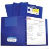 C-Line Products 2-Pocket Heavyweight Poly Portfolio Folder w/Prongs, Blue CLI 33965BNDL12EA
