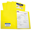 C-Line Products 2-Pocket Heavyweight Poly Portfolio Folder w/Prongs, Yellow CLI33966BNDL12EA