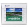 C-Line Products Biodegradable Reusable Poly Envelope w/String Closure, Side Load, Clear CLI 35117BNDL5PK