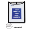 C-Line Products Shop Ticket Holders, Gusseted, Stitched, Both Sides Clear, 9 x 12 x 1 CLI 39912
