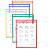 C-Line Products Reusable Dry Erase Pockets, Assorted Primary Colors, 9 x 12 CLI 40610