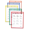 C-Line Products Reusable Dry Erase Pockets, Assorted Primary Colors, 9 x 12 CLI 40620