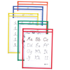 C-Line Products Reusable Dry Erase Pockets, Assorted Primary Colors, 9 x 12 CLI 40630BNDL2PK