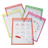 C-Line Products Reusable Dry Erase Pockets, Assorted, 9 x 12 CLI 40810