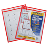 C-Line Products Reusable Dry Erase Pocket, Neon Red, 9 x 12 CLI 40814BNDL10EA