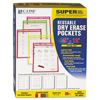 C-Line Products Reusable Dry Erase Pockets, Assorted, 9 x 12 CLI 40820