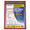 C-Line Products C-Line® Reusable Dry Erase Pockets CLI 41610