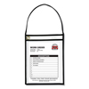 C-Line Products Shop Ticket Holders w/Strap, Black, Stitched, Both Sides Clear, 9 X 12 CLI 41922