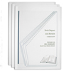 C-Line Products Vinyl Report Covers w/Binding Bars, Clear, White Binding Bars, 11 x 8 1/2 CLI 42313BNDL12PK