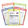 C-Line Products Stitched Shop Ticket Holders, Assorted Neon Colors, 9 x 12 CLI 43910