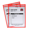 C-Line Products Neon Shop Ticket Holders, Orange, Stitched, Both Sides Clear, 9 x 12 CLI 43912